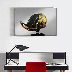 Daffy Punk by Alex Cherry - Fine Art Print on Metal starting at $89  http://www.eyesonwalls.com/products/daffy-punk-metal-print