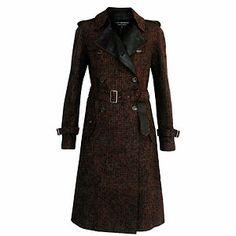 JUNYA WATANABE Comme des Garcons reversible tweed coat M belted trench jacket