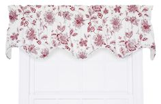 "Winston Floral Print Lined Scallop 70"" Curtain Valance"