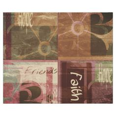 """Wrapping Paper """"Faith, Hope, Friends"""""""