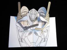 DIY pop-up template. General Grievous (star Trek). Matthew Reinhart.com