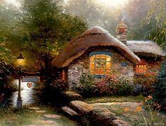 Pinturas Thomas Kinkade (151 imágenes)