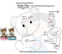 Resultado de imagem para molde rosto de urso em eva