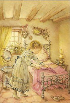 girl doing homeworks by Lisi Martin