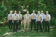 Southern wedding - groomsmen in vests