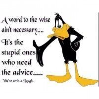 Discover and share Favorite Quotes Daffy Duck. Explore our collection of motivational and famous quotes by authors you know and love. Classic Cartoon Characters, Favorite Cartoon Character, Classic Cartoons, Looney Tunes Cartoons, Funny Cartoons, Funny Jokes, Hilarious, Daffy Duck Quotes, Funny Duck
