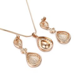 Yoursfs Jewelry Sets for Women 18K Rose GP Gorgeous Vintage Red Crystal Chandelier Pendant Necklace  #ILoveJewelry
