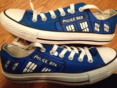 Dr. Who hand painted custom shoes!