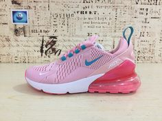 681b1560362b62 Spring Summer 2018 New Arrival Nike Air Max 270 Running Shoes Flyknit Blue  Pink 2018 Latest