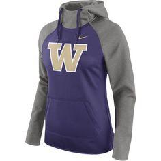 Nike Washington Huskies Women's Purple Tailgate All-Time Pro Raglan Hoodie