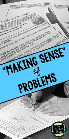 """Teaching students to """"make sense"""" of problems might be just as important as the math found in the problem!  Check out today's post for some helpful hints to try with your students!"""