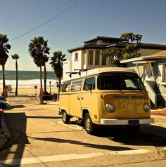 Manhattan Beach, #California  #travel We had a VW camper just like this when our boys were young.