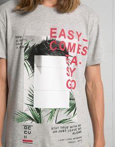 T-shirt textos e imagens - Graphic print - Bershka Portugal
