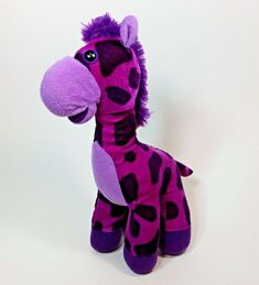 "Classic Toy Co Purple Giraffe Big Eyes Plush Toy 13"" Soft Stuffed Animal #ClassicToyCo Giraffe Stuffed Animal, Giraffe Toy, Stuffed Animals, Pet Toys, Doll Toys, Dolls, Ty Plush, Hasbro My Little Pony, Purple Baby"