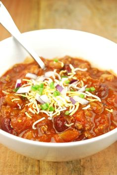 Chili is another one of those comfort foods that we start craving this time of year. It just hits the spot and makes you feel good, even af...