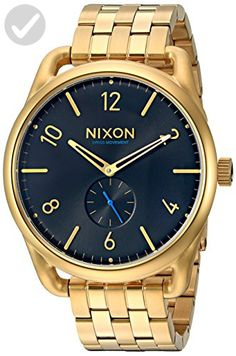 Nixon Men's A951510 C45 SS Analog Display Swiss Quartz Gold Watch - Mens world (*Amazon Partner-Link)