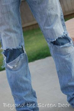 DIY Knee Patches DIY How to Patch Jeans without Loosing