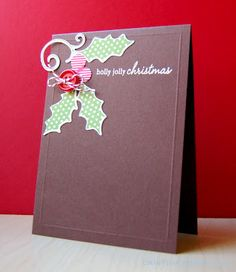 Holly Jolly Christmas Card by Cristina Kowalczyk for Papertrey Ink (September 2012)