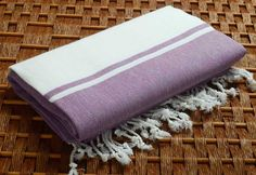 SALE %50 Off Personalized Turkish Towel - Karia Peshtemal - Monogramed Embroidered- Purple - Spa Sauna Yoga Bachelorette Party Beach Wedding by NaturalSoft on Etsy https://www.etsy.com/listing/182300871/sale-50-off-personalized-turkish-towel