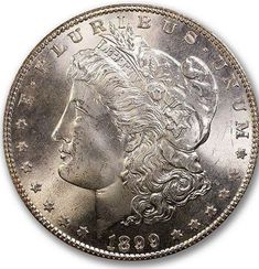 CAC Approved Morgan Dollar with a grade. Us Coins, Rare Coins, Numismatic Coins, Collectible Cards, Half Dollar, Silver Bars, Coin Collecting, Larry, Auction