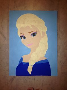 Art. Painting posca Elsa la reine des neiges