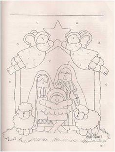45 New Ideas For Embroidery Christmas Nativity Scenes Christmas Patchwork, Christmas Sewing, Christmas Nativity Scene, Christmas Art, Nativity Scenes, Christmas Holidays, Etsy Embroidery, Embroidery Fashion, Christmas Embroidery Patterns
