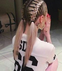 Sporty Hairstyles for Girls # for Hair Styles Little Girl Hairstyles Girls hair hairstyles sporty STYLES Quick Braided Hairstyles, French Braid Hairstyles, Pretty Hairstyles, Girl Hairstyles, Hairstyle Ideas, Cute Sporty Hairstyles, Hairstyle Braid, Perfect Hairstyle, Night Hairstyles