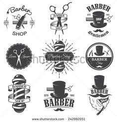vintage barber shop logos - Google Search