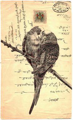 'encore' bic biro drawing on a antique Indian document on Behance Mark Powell, Biro Drawing, Envelope Art, Postcard Art, A Level Art, Street Art, Gcse Art, Pen Art, Mail Art