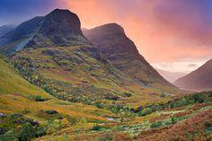 Autumn in Glen Coe, Scotland.