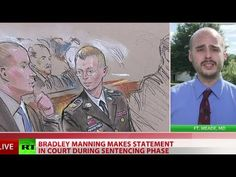 Manning speaks: 'I believed I was going to help people, not hurt people'  Published on Aug 14, 2013 Bradley Manning personally delivered a statement as his trial, which could see him convicted for up to 90 years in prison, nears its end. He defended leaking 700,000 US diplomatic cables as an act of conscience and apologized for the damage he caused.