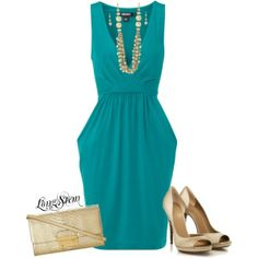 """""""Turquoise & Gold"""" by longstem on Polyvore"""