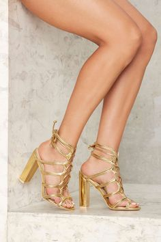 Nasty Gal First Place Lace-Up Heel   Shop Shoes at Nasty Gal!