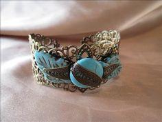 Turquoise Leaf Bracelet