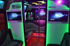 VIP Lounge Party Bus - New York and New Jersey limo bus rental service for…