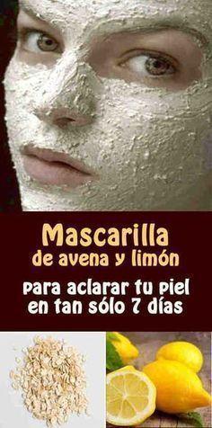Esta mascarilla de avena y limón es muy buena para aclarar la piel, unificar tonos y eliminar las manchas.