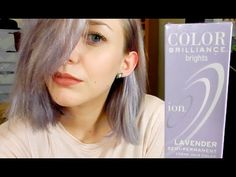 SMOKY LAVENDER HAIR: ION COLOR BRILLIANCE - YouTube