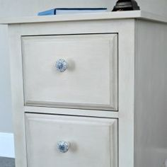 How To Authentically Age White Painted Furniture DIY Tutorial Using Amy Howard Paint Products and create an upscale boutique finish.