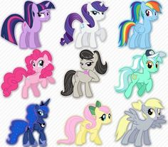 Please comment on what pony you think is cuter/cooler in a pony tail. I like Lyra, Derpy, and Tavi.