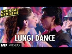 Lungi Dance - The Thalaiva Tribute Featuring Honey Singh, Shah Rukh Khan, Deepika Padukone in Chennai Express Bollywood Music Videos, Bollywood Movie Songs, Chennai Express, Dance Video Song, Dance Videos, Shahrukh Khan, Deepika Padukone, Srk Movies, Film Song