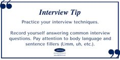 Visit www.ABBTECH.com for tips, advice and available job opportunities. Interview Techniques, Common Interview Questions, Body Language, Pay Attention, Sentences, How To Become, Advice, This Or That Questions, Tips