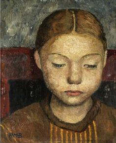 Head of a Girl Sitting on a Chair,  Paula Modersohn-Becker