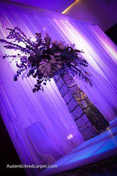Decorativo Floral Genuino Con Cortinas Luminosas arquitectónicamente y Pista Iluminada Ideal Para Back de Mesa Principal de Novios Escenario Principal  .contactanos. 8116704353