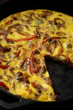 Easy Sausage Pepper and Onion Frittata Recipe | Quick Healthy Meals