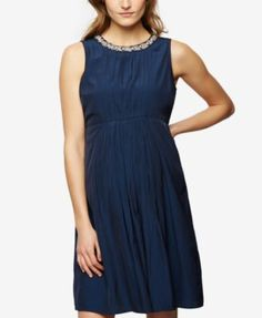 A Pea In The Pod Maternity Embellished A-Line Dress