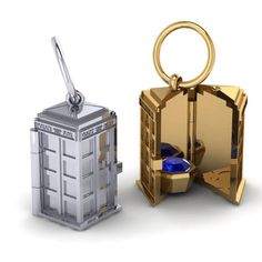TARDIS Locket  Pendant / Charm by PaulMichaelDesign on Etsy