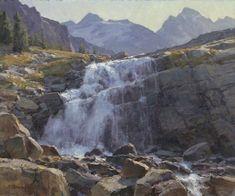 """Clyde Aspevig - """"Victoria Falls, Canada"""" oil on linen 20x24"""