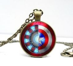 Iron Man Arc Reactor And Star Glass Dome Bronze Necklace Jewelry Iron Man Captain America, Captain America Civil War, Thor Helmet, Iron Man Arc Reactor, Avengers Tattoo, Super Hero Outfits, Bronze, Round Pendant, Glass Domes
