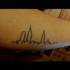 Love my New York skyline tattoo. Inner forearm.