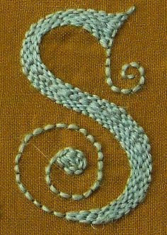 monogram but simply stitched